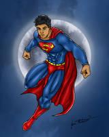 DC 13 superman fly moon by jmaturino by jmaturino