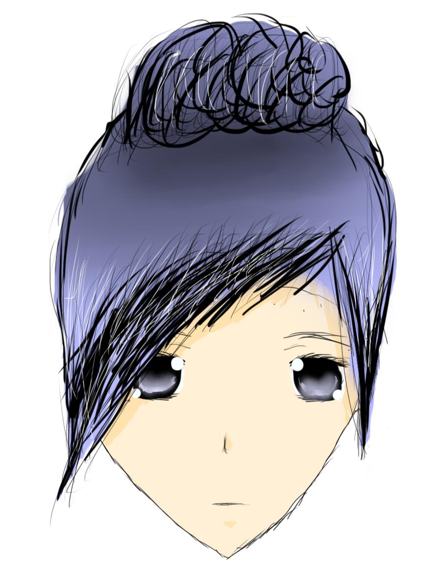 Blue Hair :'3 by LukaxYuki