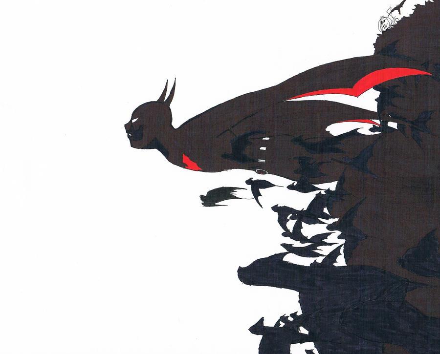 Batman Beyond Anime Form Fanart by TheNexus18