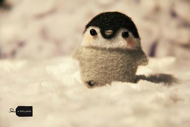 needle felted penguin FORSALE