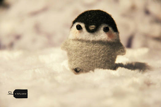 needle felted penguin FORSALE