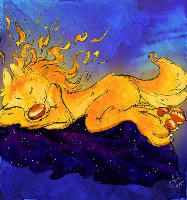 The Sleeping Sun by ariadnedalua