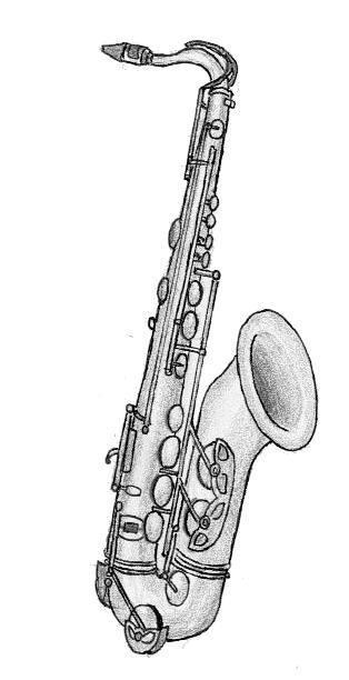 Saxophone dessin - Dessin saxophone ...