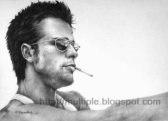 Pencil Drawing Brad Pitt by artbydawnkoh