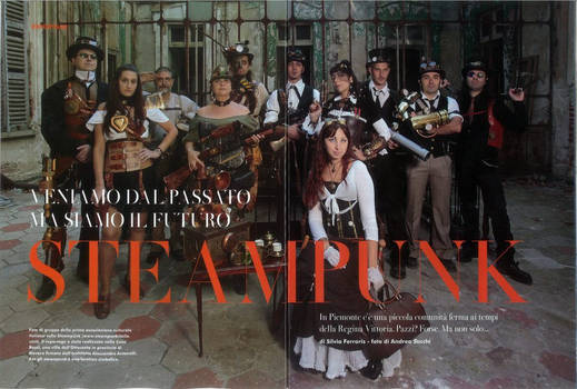 Steampunk Italia interview on 'A' magazi