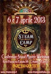 Locandina Steampunk Italia e SteamCamp