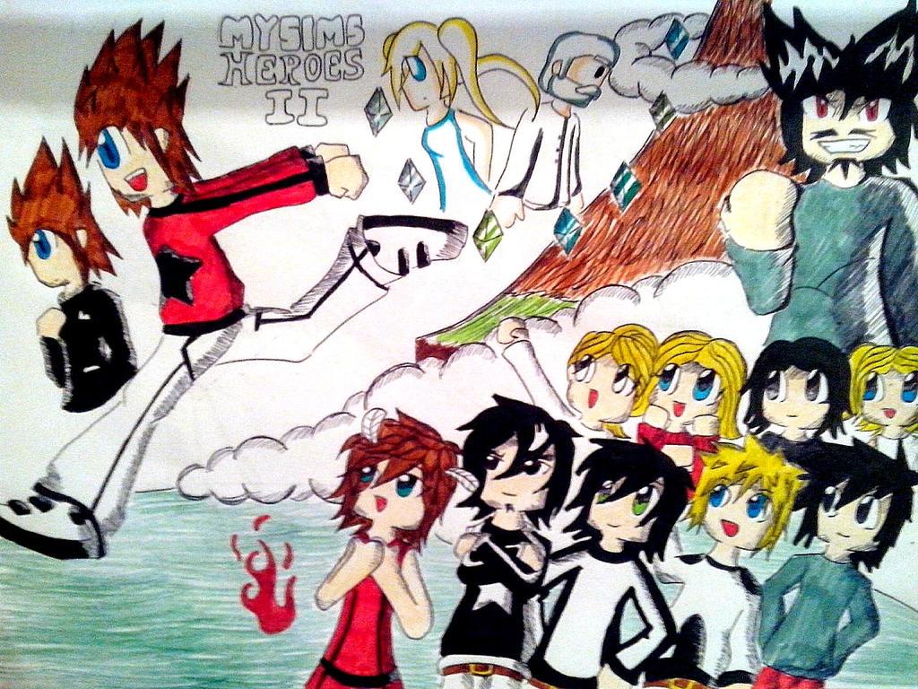 My Sims Heroes II by AlinkKiyoiYuusha