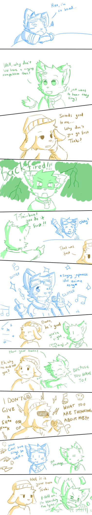 Tsuki And His Friends Silly Moments #2 -Taiyo/Carl by NeiruLysor36