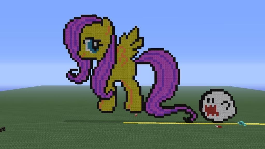 Fluttershy pixel art!! by Phot0pon3