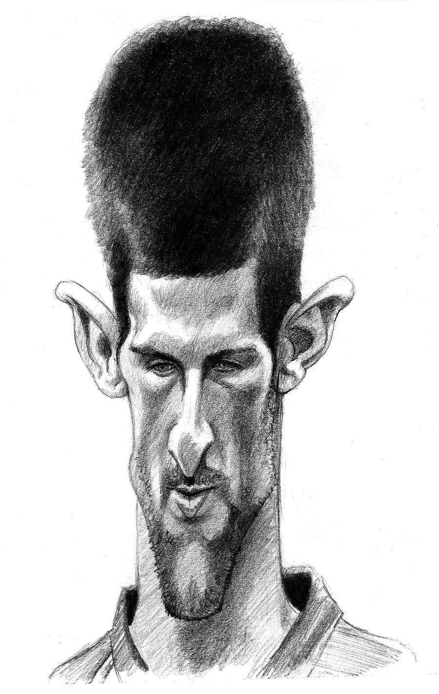 Novak Djokovic Sketch Caricature By Oilbigbrozer On Deviantart