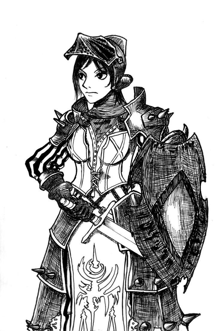 Tahra's Character study 3 - Fanart by Otsumanu