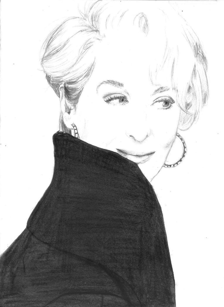 Meryl Streep by Otsumanu