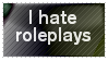 I hate RP stamp by EllyStampz