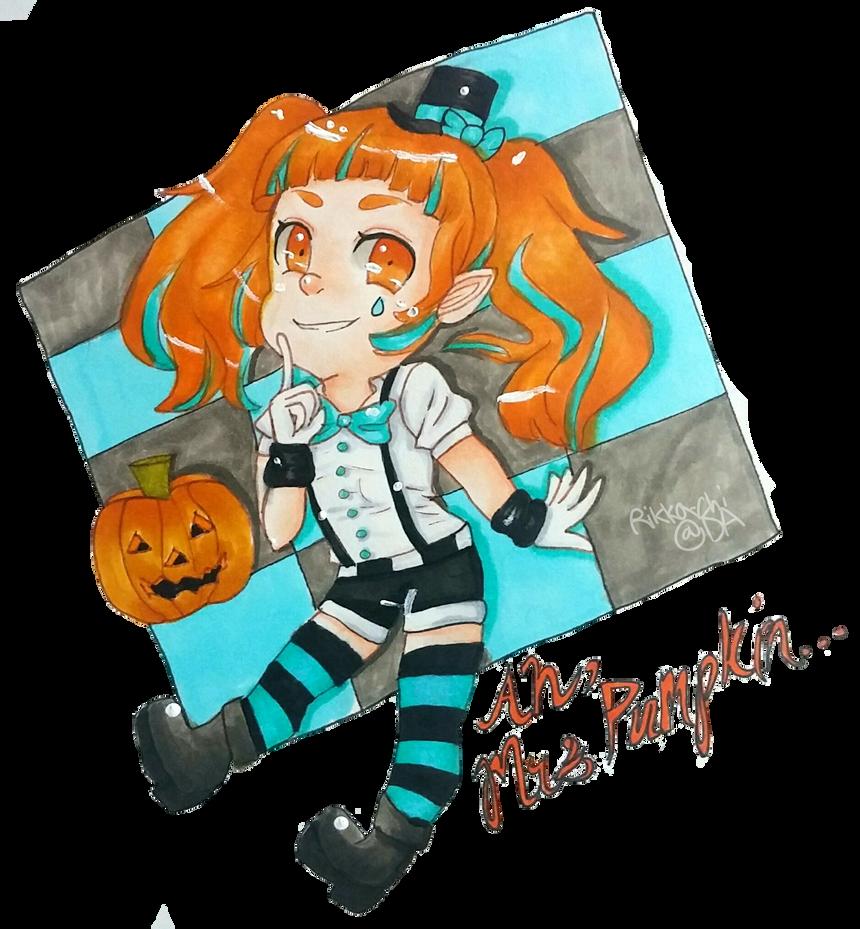 Hatsune Miku Pumpkin Dream Chibi by rikise