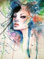 Watercolor girl 3 by Android-Bones