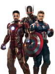 Iron Man, Ultron and Captain America - Render
