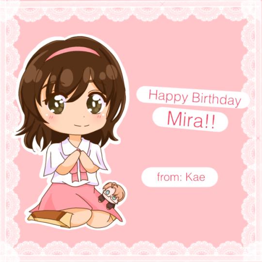 Happy B-Day Mira!! by k-kae