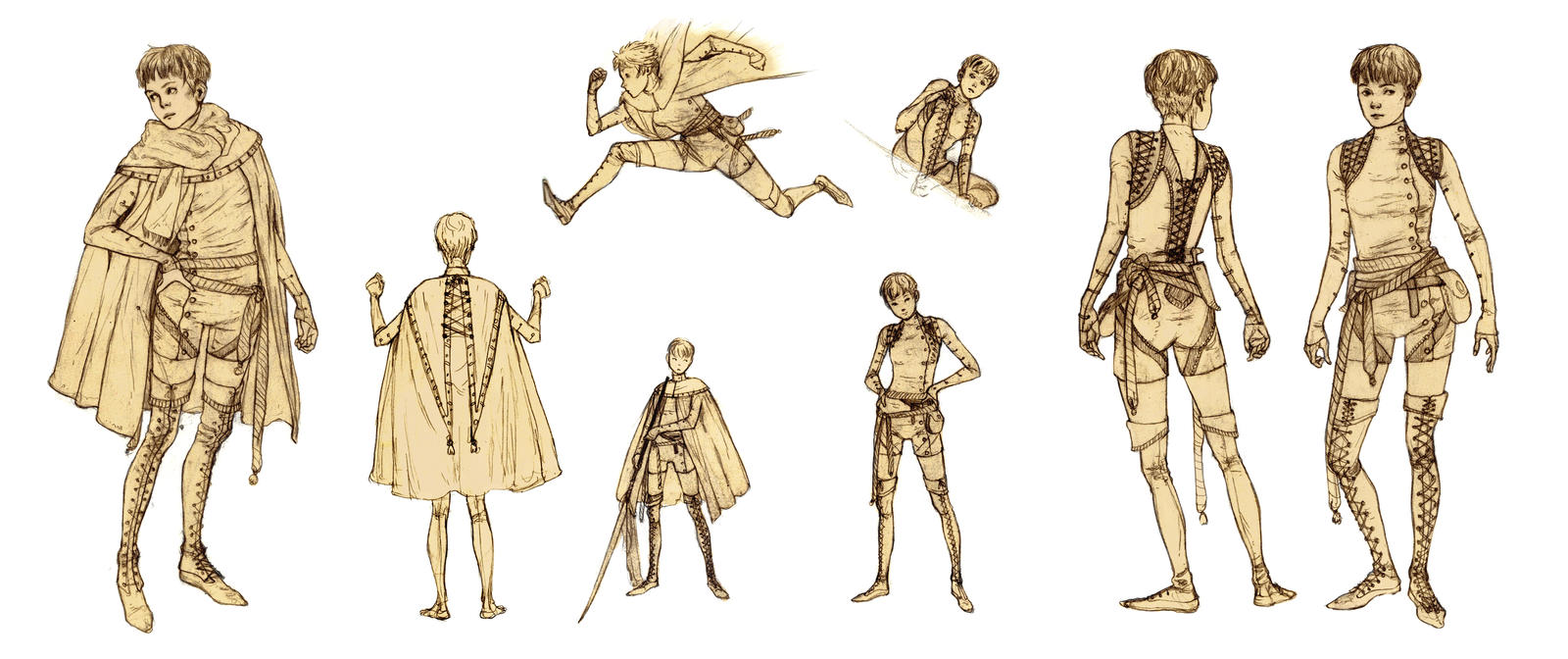Game character concepts by JMichek