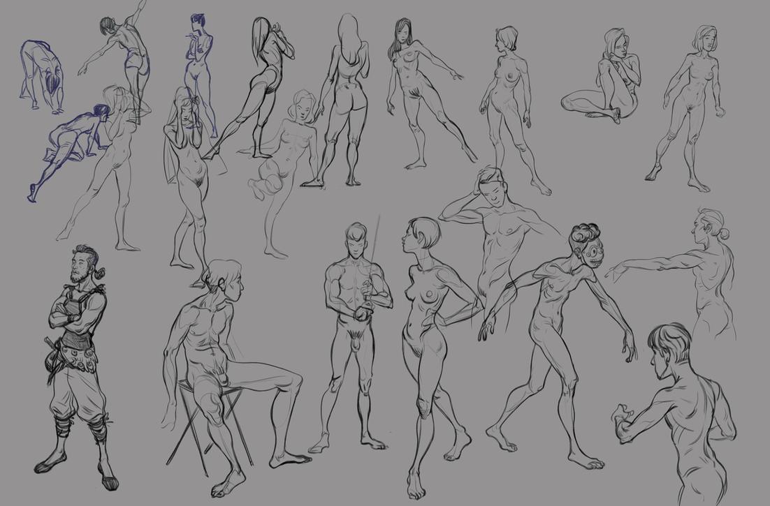 Random Figuresketches by JMichek