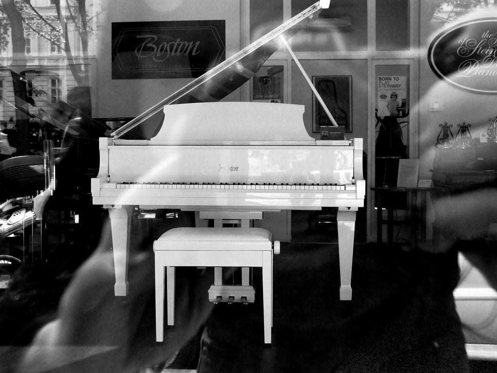 Piano through the glass