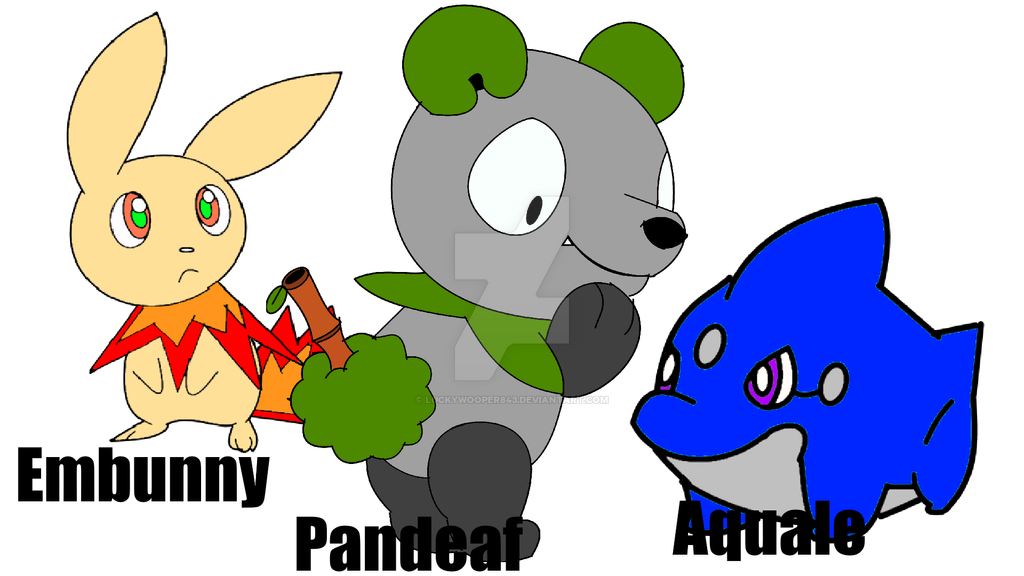 Getho Region Starters by luckywooper843