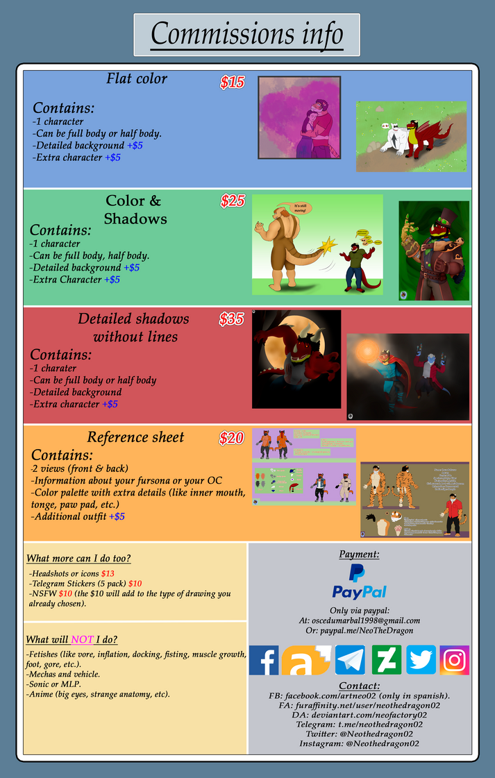 Commissions Info -OPEN- by Neofactory02