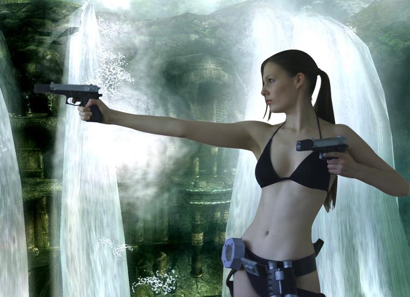 Lara Croft Bikini 2 by BunniKez