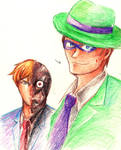 Riddler and Two-Face sketch