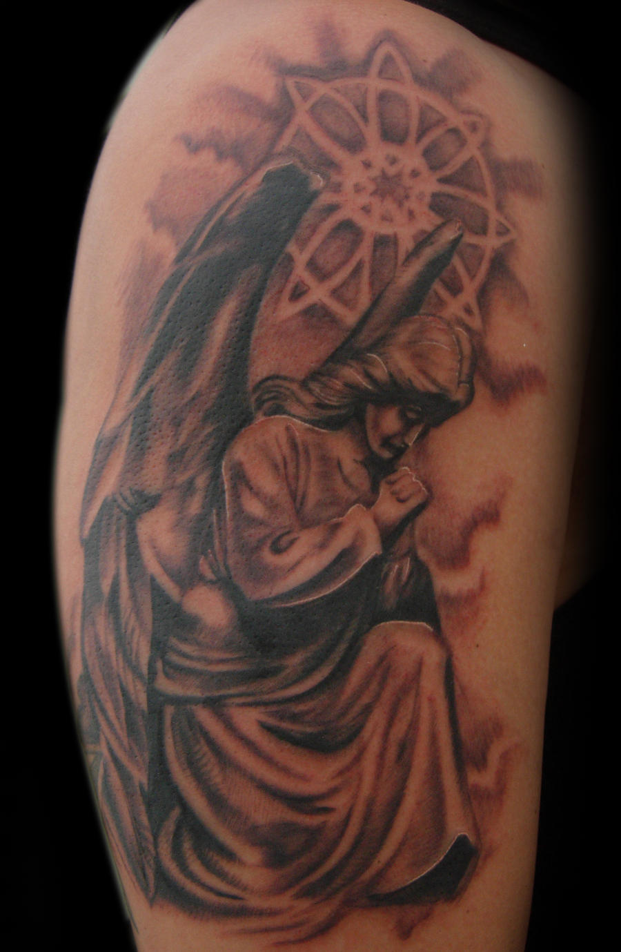 The gallery for --> Angel Statues Tattoos