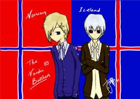 NorxIce - Nordic Brothers by bakyuraYUU