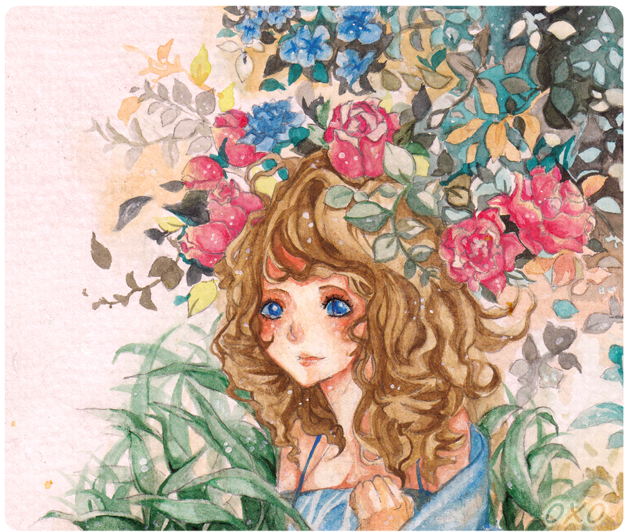 girl and flower by zgOxO