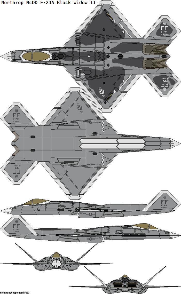 Northrop McDD F-23A Black Widow II by CopperheadYSF23