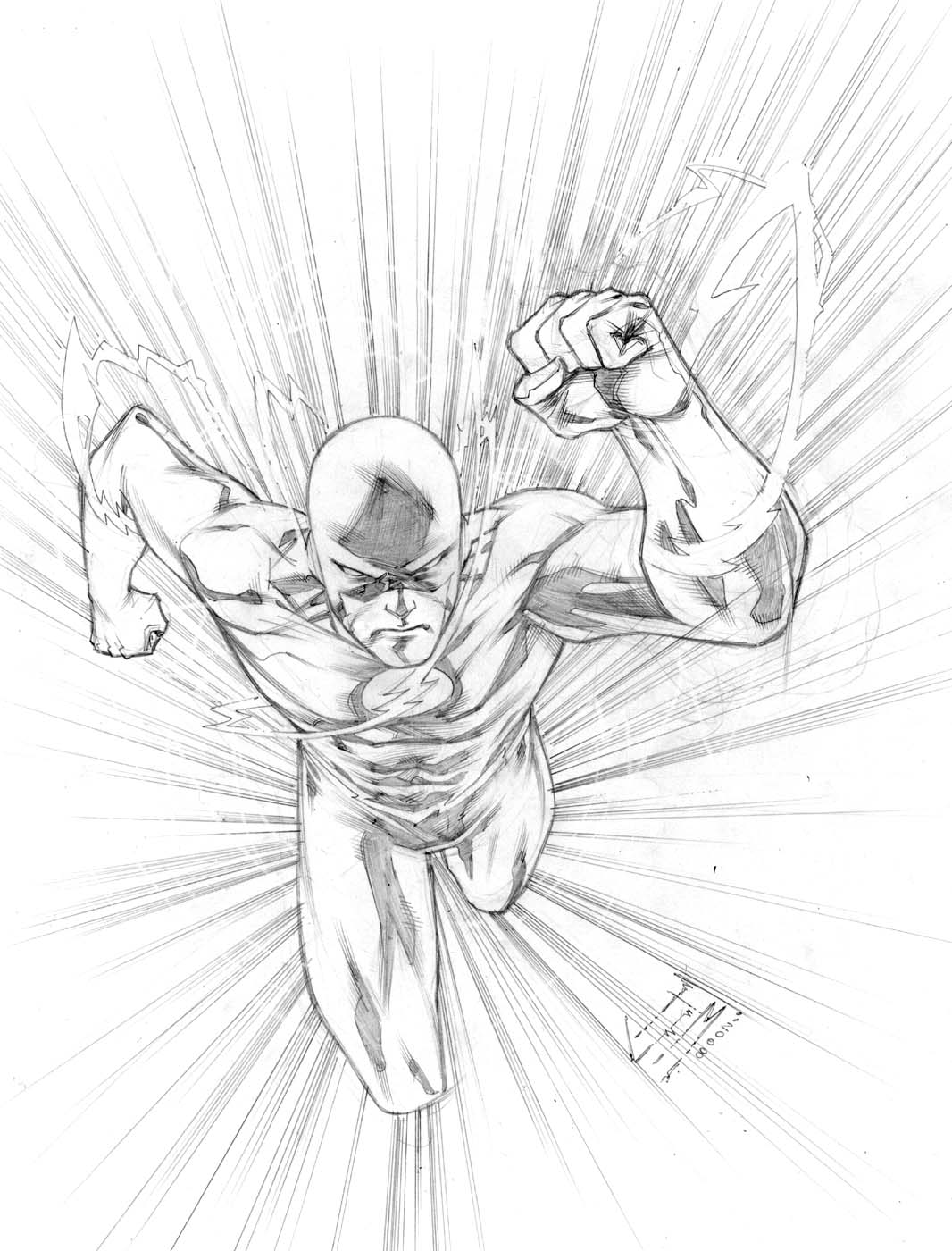 flash by manapul flash by manapul - Flash Running Coloring Pages