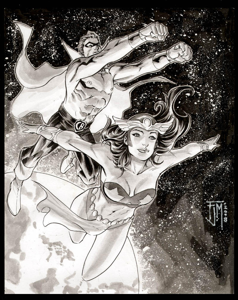Captain barbell and darna by manapul on deviantart for Barbel art