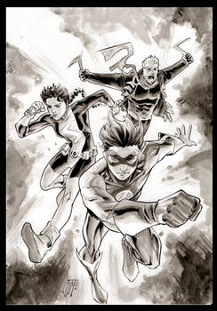 Kid Flash and friends