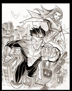 Invincible and Atom Eve