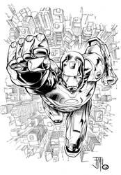 Livsay Inks Iron Man by manapul