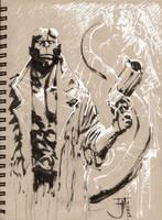 Drink and Draw Hellboy
