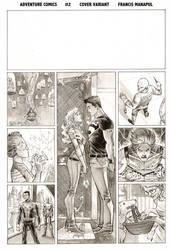 Adventure Comics 2 Var BnW by manapul