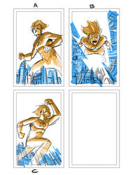 Kid Flash layout by manapul