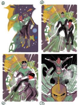 Green Lantern Corps Layouts
