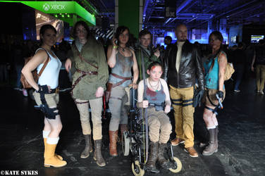Tomb Raider Cosplayers 2 - EGX 2015 by KateRSykes