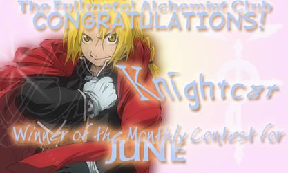 June Award -- Knightcat by fullmetalalchemist