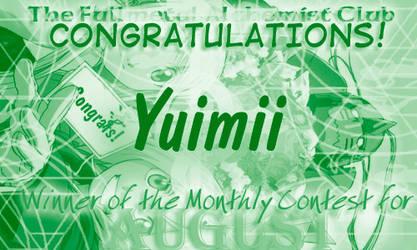 August Award -- Yuimii by fullmetalalchemist