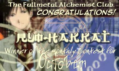 October Award -- ryo-hakkai by fullmetalalchemist