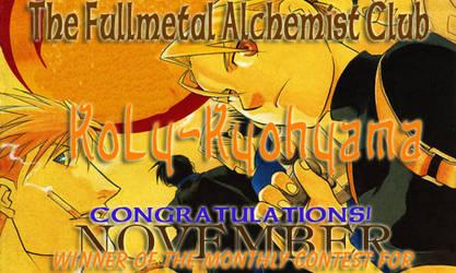 November Award --KoLy-Kyohyama by fullmetalalchemist