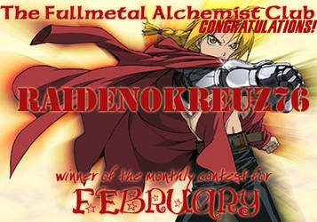 February Award -- raidenokre76 by fullmetalalchemist