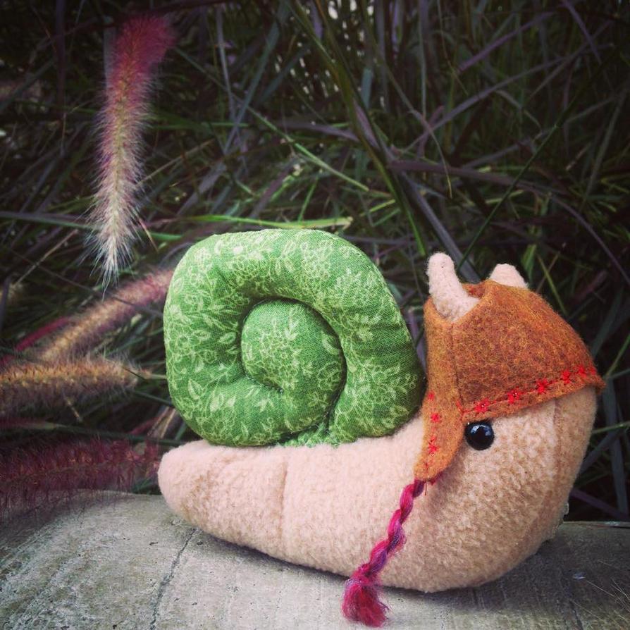 Mr. Snail plushie by csgirl