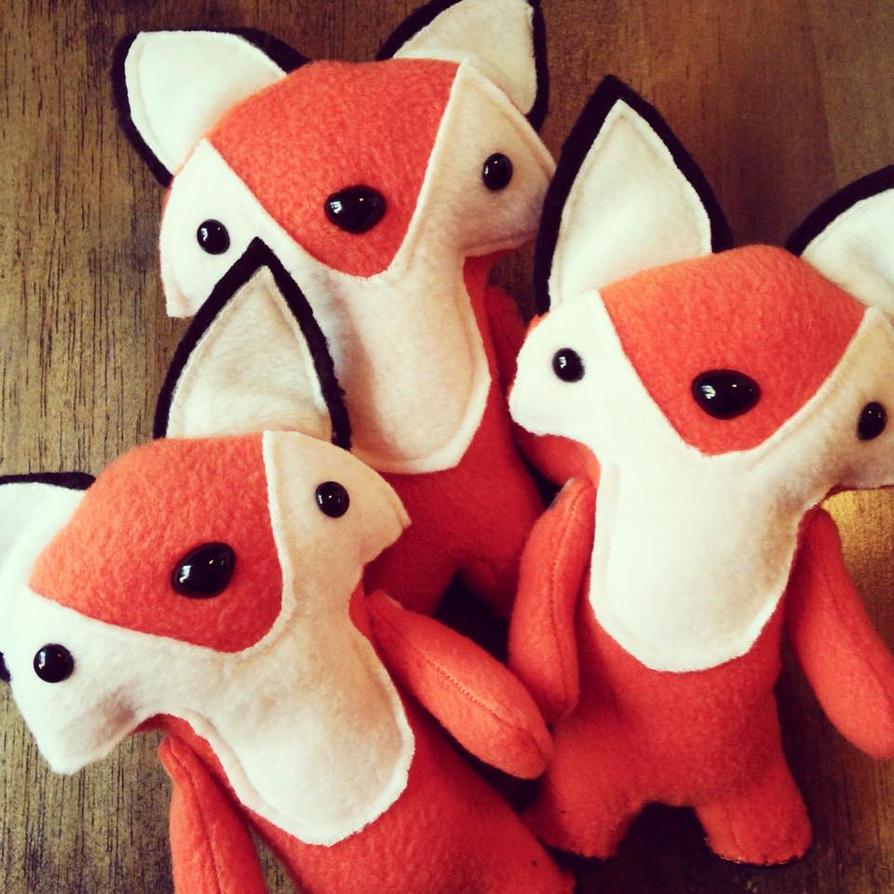 Fox plushies by csgirl