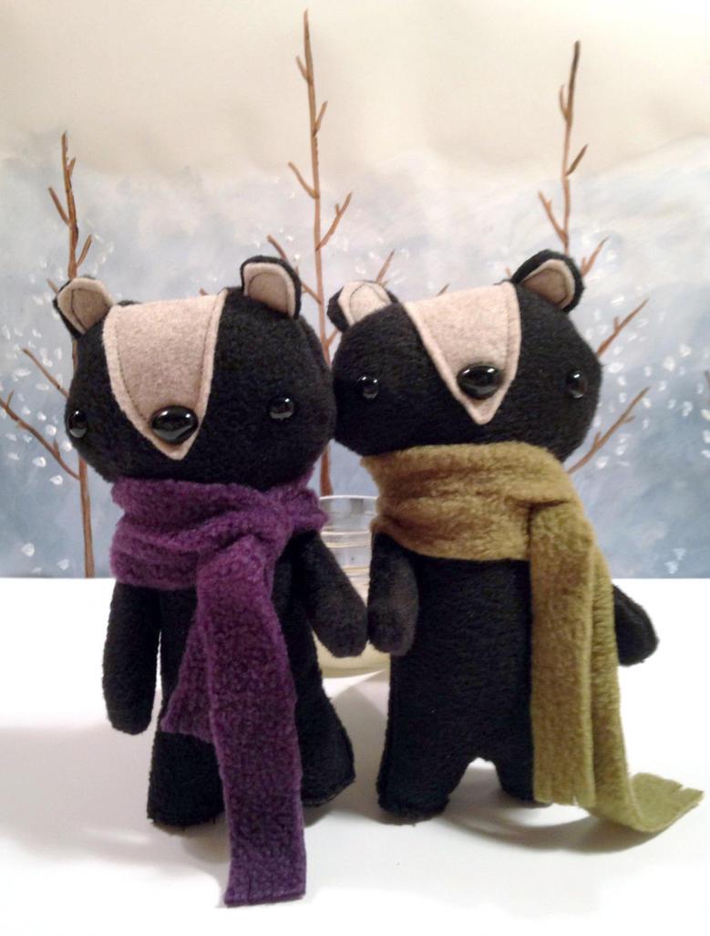Plush Skunks handmade stuffed animals by csgirl